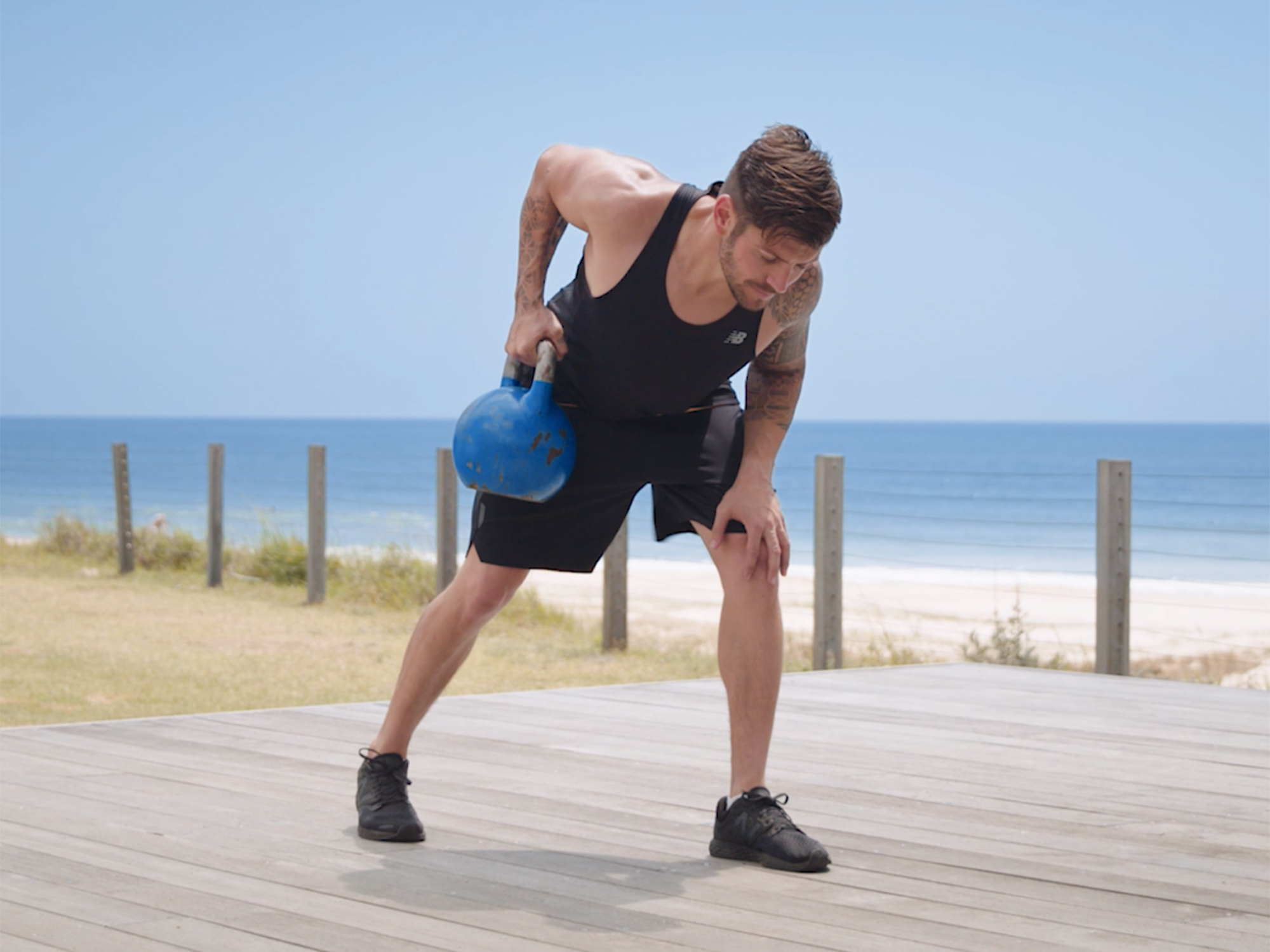 kettlebell supported row