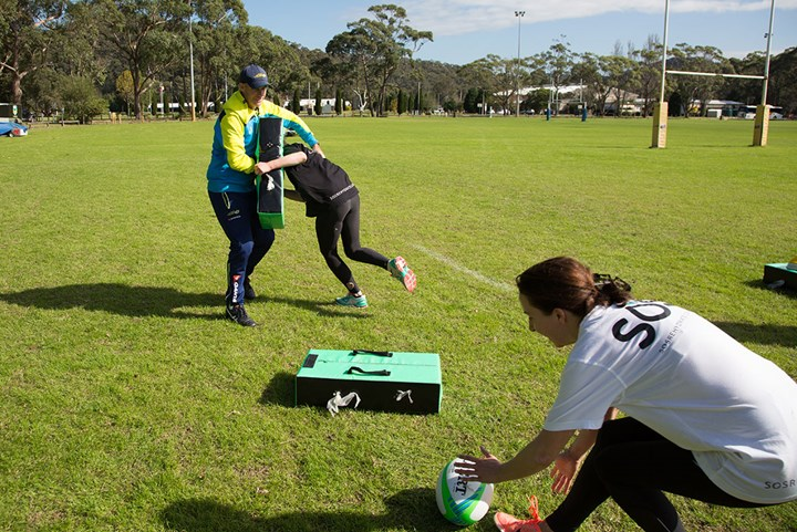 Rugby Sevens training