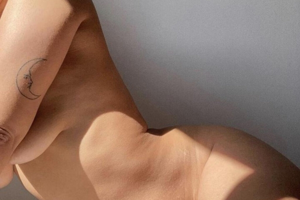 Naked woman body, empowering curves